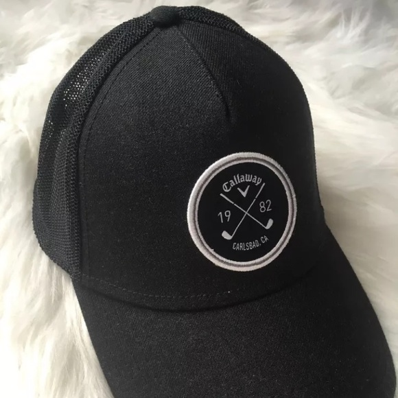 5afccf4cca7 Callaway golf hat black Black   White